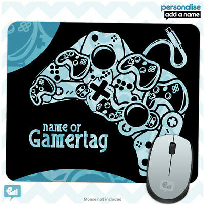 Personalised BOYS GAMER Controller Mouse Mat Pad Kids PC Laptop Computer Room • 4.99£