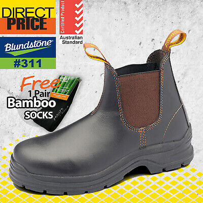 AU94.95 • Buy Blundstone Mens Work Boots Safety Brown Elastic Side Slip On TPU Outsole 311