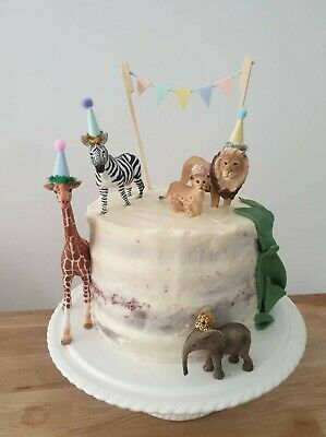 Mini Party Hats For Animal Dinosaur First Birthday Cake Toppers  • 2£