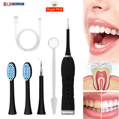£14.38 • Buy Electric Sonic Dental Scaler Tartar Calculus Plaque Remover Stains Cleaner Teeth