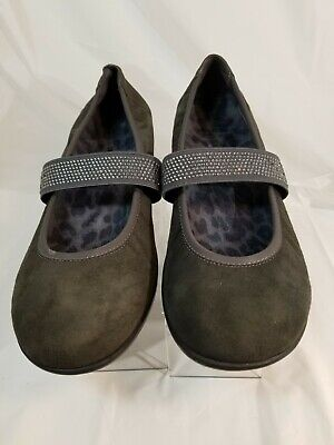 $29.99 • Buy Women's Vionic  Ballet Flats Mary Jane Sequined Straps Gray Suede Shoes Sz 7.5 M