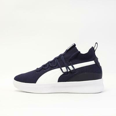 Mens Puma Clyde Court Navy Basketball Trainers (G1) RRP £79.99 • 49.99£