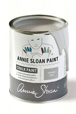 Annie Sloan  Chicago Grey  1 Litre - Large Tin Of Chalk Paint ... • 39£