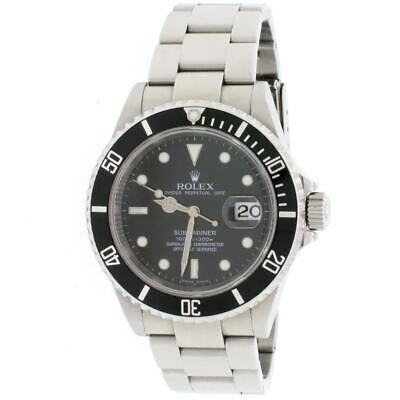 $ CDN12465.15 • Buy Rolex Submariner Date Black Dial 40MM Oyster Mens Watch 16610 Box Papers
