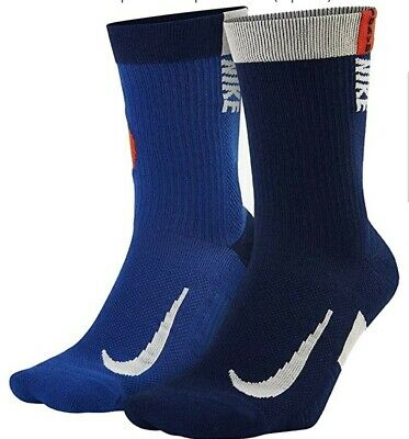 £14.99 • Buy Nike Multiplier Crew Tokyo Running Socks X2 Blue Red UK Size 2-5 Limited Edition