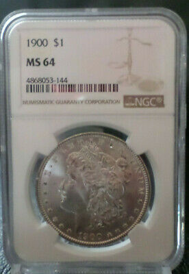$53 • Buy 1900 Morgan Silver Dollar $1 NGC MS 64