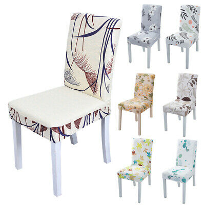 AU7.40 • Buy New Dining Chair Seat Covers Stretch Slipcovers Party Office Home Decor Fashion