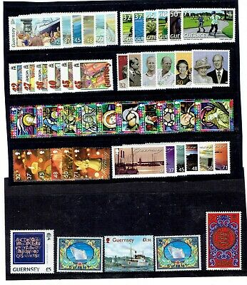 Guernsey 15 Sets (+ 10 High Values) Cheap Postage? Face Value £65.36  Mint. • 18£