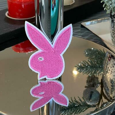 Playboy Baby Pink Badge Embroidered Sew On/Iron On Patch PREMIUM QUALITY - UK • 2.39£