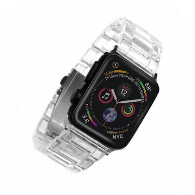 $ CDN23.99 • Buy Cool Tortoise Resin Clear Sport Band For Apple Watch Series 5 4 3 2 Wrist Strap