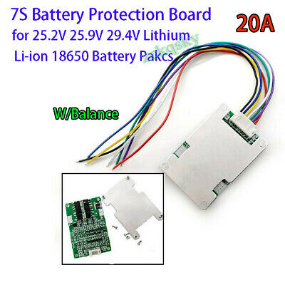 AU9.89 • Buy 7S 24V 29V 15A BMS Protection Board W/ Balance For Li-ion Lithium Battery D