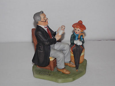 $9 • Buy NORMAN ROCKWELL Collector's Club  Doctor And The Doll  Figurine - 1980
