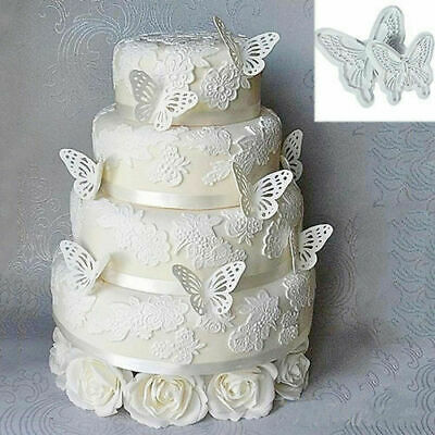 AU5.84 • Buy 2pcs DIY Butterfly Cutters Mold Cake Fondant Sugarcraft Cookie Decorating Tool