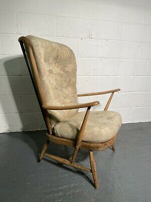 Mid Century Ercol Windsor Easy Chair Model 478 In Original Condition • 275£