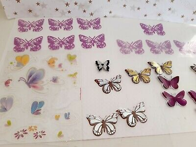 Large Bundle Of Buttlerfly Peel Off Sticker Card Making Scrapbook Decorations  • 0.99£