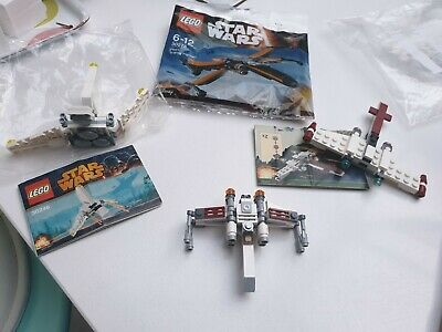 4 X Star Wars Lego Small Fighter Plane Sets, 30278, 30246, VGC • 6£