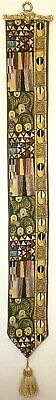 The Kiss Klimt Lined Belgian Tapestry Bell Pull Wall Hanging + Brass Hanger 0279 • 49.98£