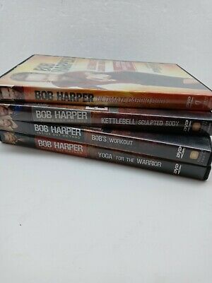 4 Bob Harper  DVD's Ultimate Cardio, Kettlebell, Yoga, Bobs Workout, Pre-owned • 11.95£