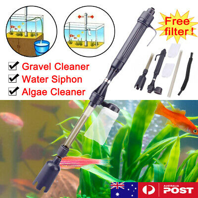 AU18.74 • Buy Electric Siphon Vacuum Cleaner Aquarium Fish Tank Clean Pump Water Change Gravel