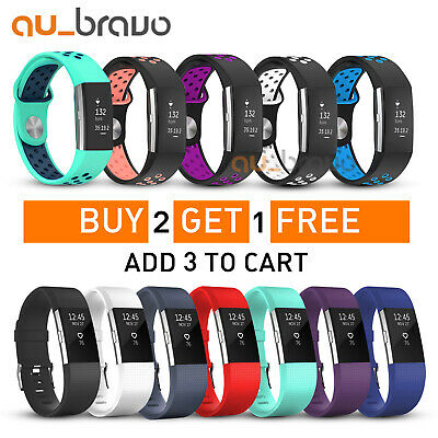 AU5.95 • Buy Fitbit Charge 2 Bands Replacement Silicone Wristband Watch Strap Bracelet Sport