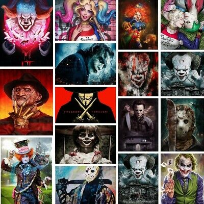 AU12.99 • Buy 5D Full Drill Diamond Painting  Horror IT Film Characters  Mosaic Special Gift