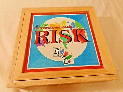 $29.95 • Buy Risk Continental Game Nostalgia Game Series In Wooden Box 2003~Complete