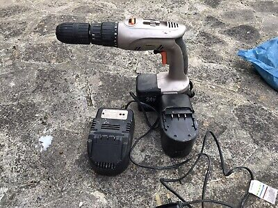 Powerbase Excel Cordless Drill Model 785265 24V Battery/Charger Spares Or Repair • 12.50£