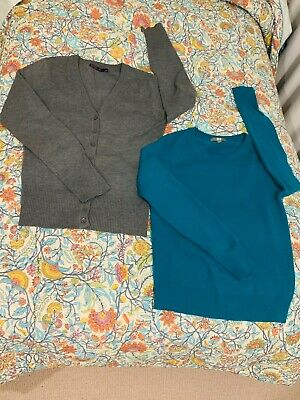 """AU11 • Buy 2 For 1price👍Warm&simple""""UNIQLO""""100%Cashmere Jumper/top +""""Cotton On""""cardigan"""