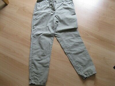M & S Pale Khaki Cropped Size 14 Cotton Trousers • 0.55£