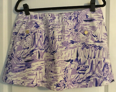 $43 • Buy Lilly Pulitzer Madison Skort Lilac Rock The Dock. Size Large