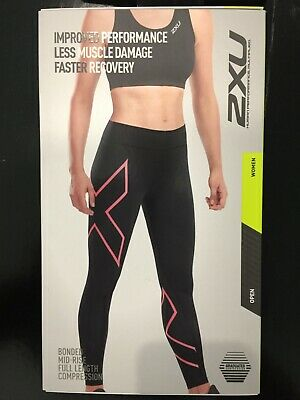 AU50 • Buy 2XU Women's Bonded Mid-Rise Compression Tights *SALE*