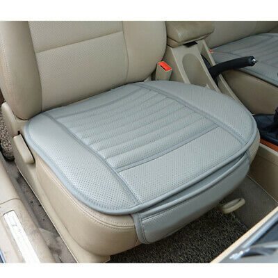$ CDN17.58 • Buy Gray Car Auto PU Leather Breathable Front Seat Cover Protector Cushion Mat Pad