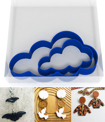 SMALL 3/5CM Clouds Polymer Clay Cutter Jewellery Making Kit Craft Set Sky  • 3.89£