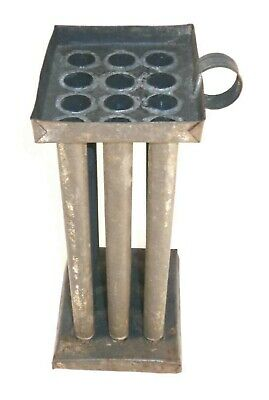 $ CDN216.52 • Buy Old Primitive Hand Made Twelve-Tube 8 3/4  Candles Tin Mold Good Used Condition