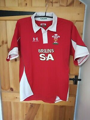 Wales Pro Fit 2008-09 Rugby Union Training Shirt By Under Armour Size Large • 2.99£