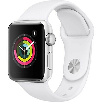 $ CDN284.19 • Buy Apple Watch Series 3 38mm GPS Silver Aluminum - White Sport Band MTEY2LL/A *New*