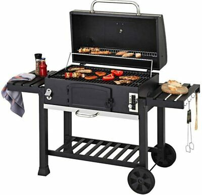 CosmoGrill XXL Charcoal Outdoor Smoker BBQ Portable Garden Barbecue With Cover • 299.99£