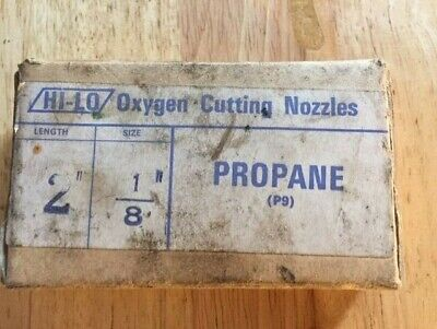 Vintage Pack Oxygen Cutting Nozzles. 2  1/8 -Propane. (P9). New. • 3.99£