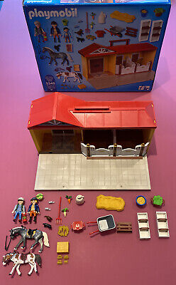 5348 Playmobil Country Carry Take Along Horse Pony Stables Playset Barn • 6.50£
