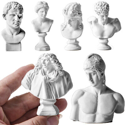 Sculpture Plaster Bust Statue Greek Mythology Figurine Gypsum Portraits UK • 3.55£