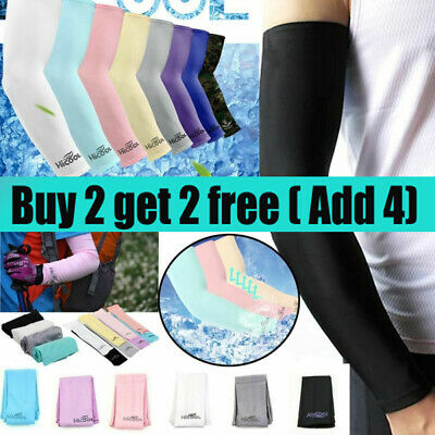 1Pair Cooling Arm Sleeves Cover UV Sun Protection Sport UK • 3.29£