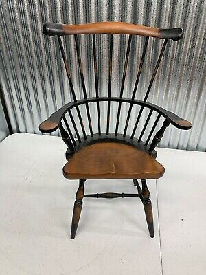 $29.95 • Buy Primitive Style Spindle Back Wooden Doll Bear Bench Chair Vintage