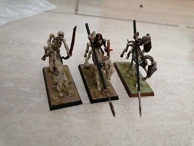 WARHAMMER UNDEAD ARMY 90s Citadel Games Workshop Skeletons Horses Painted X3 • 3.20£