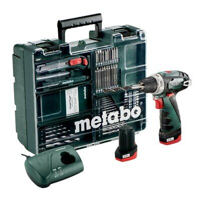 METABO- Cordless Drill Powermaxx BS Basic Set 10,8 V+ Accessories 600080880 • 134.73£