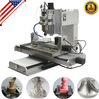 $ CDN4108.98 • Buy 5 Axis 2200W 6040 CNC Router 3D Engraver USB Engraving Drilling Milling Machine