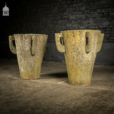 £1440 • Buy Pair Of Hand Chiselled Antique Sandstone Urns