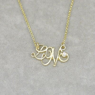 $ CDN9.50 • Buy 'Love' Pendant Lia Sophia Signed Jewelry Gold Plated Cute Necklace Cut Crystal