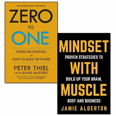 AU21.89 • Buy Zero To One And Mindset With Muscle 2 Books Collection Set Paperback NEW