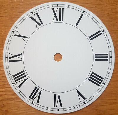 £9.55 • Buy NEW - 5 Inch Clock Dial Face - White - 127mm Roman Numerals - DL17