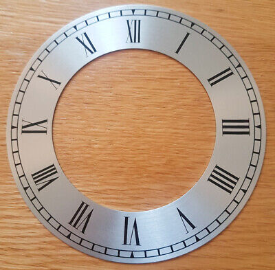 £7.95 • Buy NEW - 6 Inch Chapter Ring Clock Zone Dial Face - Silver 152mm Roman Num - CR191